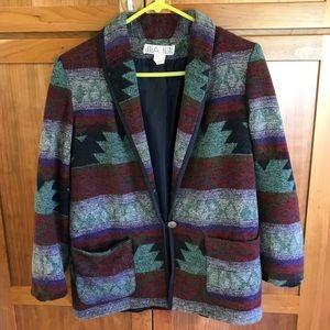 Julia Klein Southwestern Pattern Vintage Blazer M